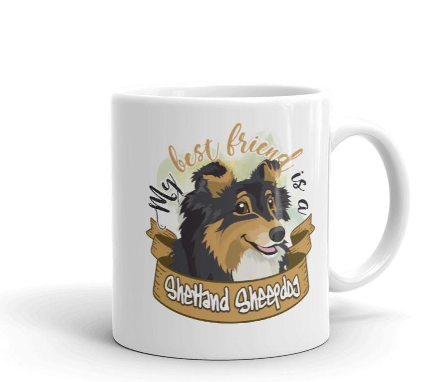 Doggygraphics DG mok best friend Shetland Sheepdog black tri