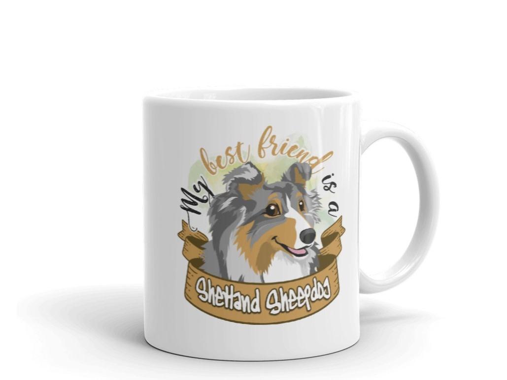 Doggygraphics DG mok best friend Shetland Sheepdog bleu tri