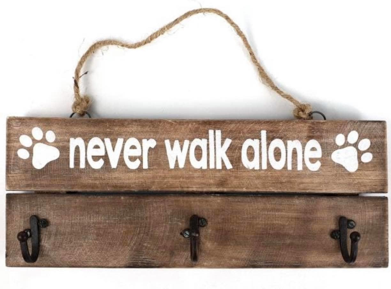 "Woodart Woodart kapstok ""never walk alone"" 30x12 cm"