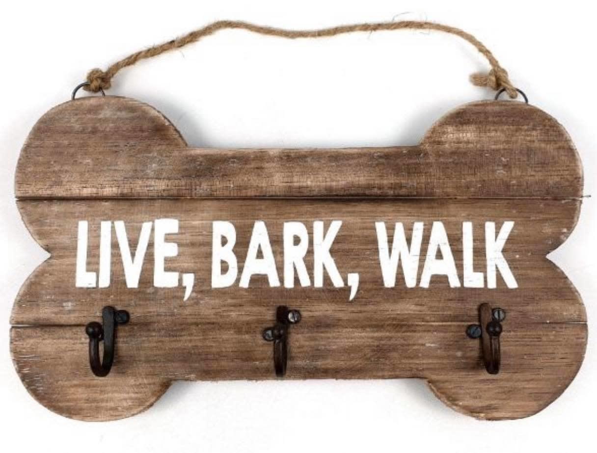 "Woodart Woodart kapstok ""live, bark, walk"" 30x17 cm"