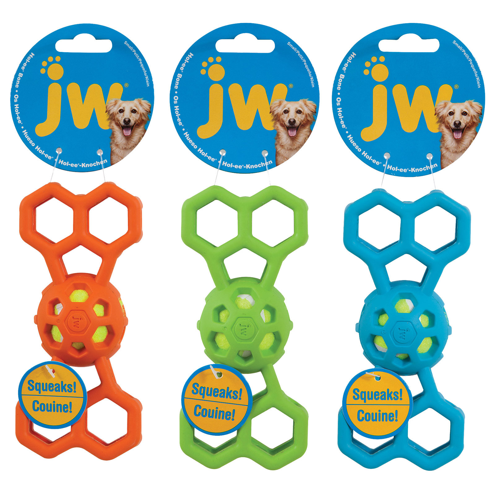 JW JW Hol-ee bone with squeaker 20 cm