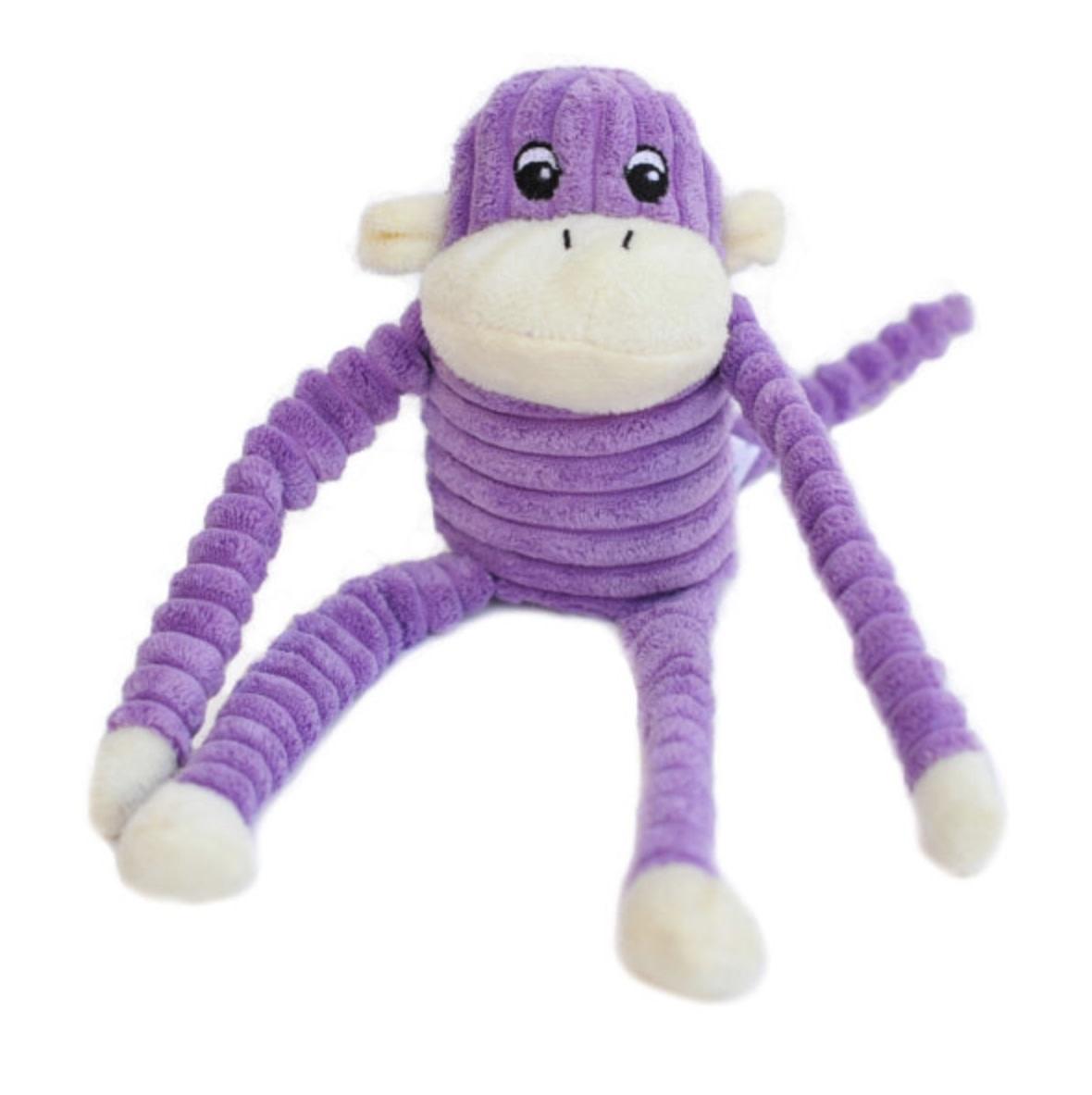 Zippypawz Spencer the Crinkle Monkey S paars