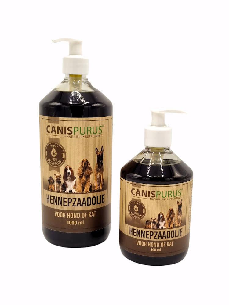 Canis Purus Canis Purus hennepzaadolie 500 ml