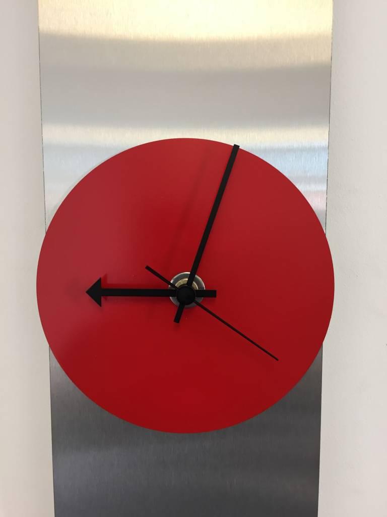 ChantalBrandO Wandklok Red Circle & Black