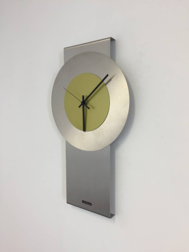 ChantalBrandO Wandklok Pendulum Lime-Green