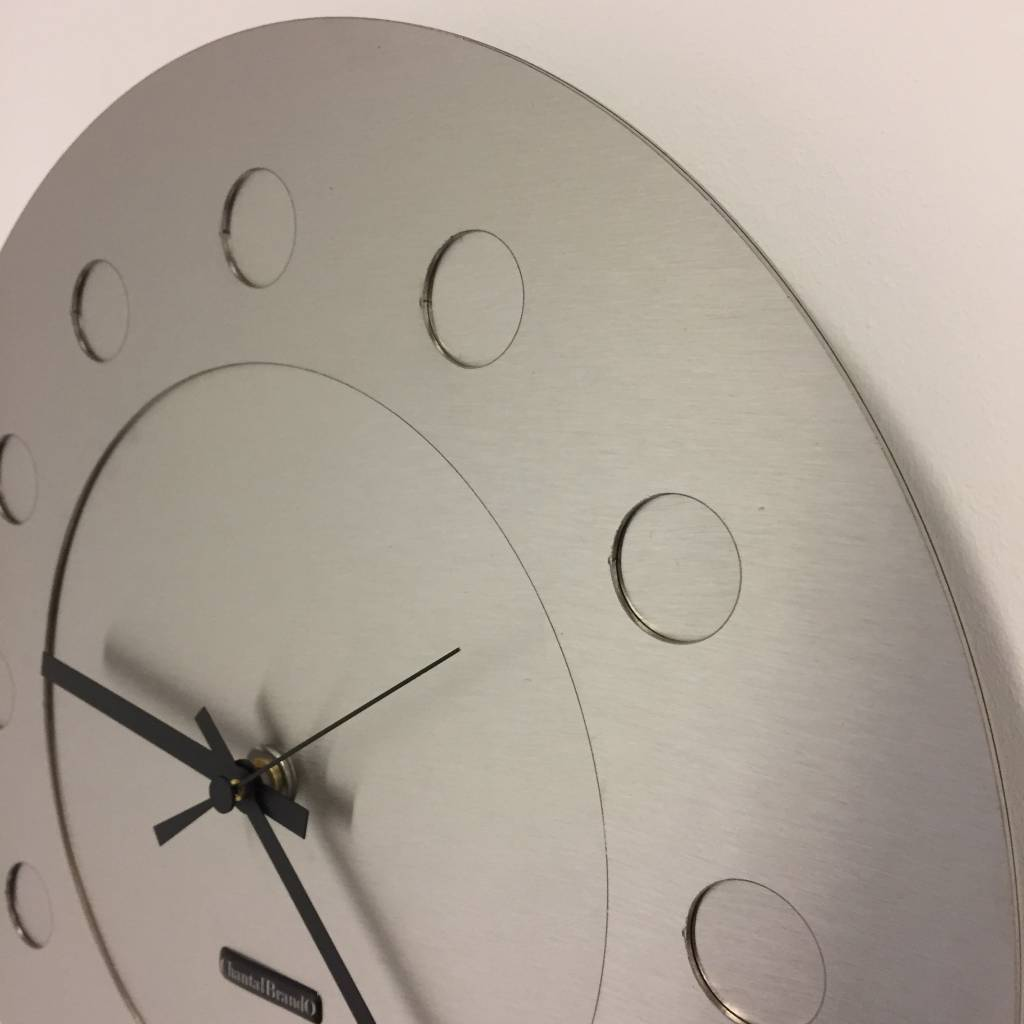 ChantalBrandO Wandklok Industrial Revolution Silver
