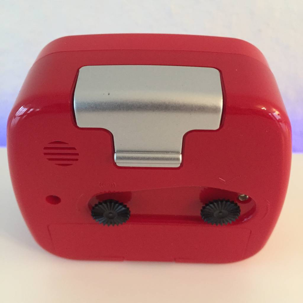 Atlanta Kinderwekker mini formaat rood