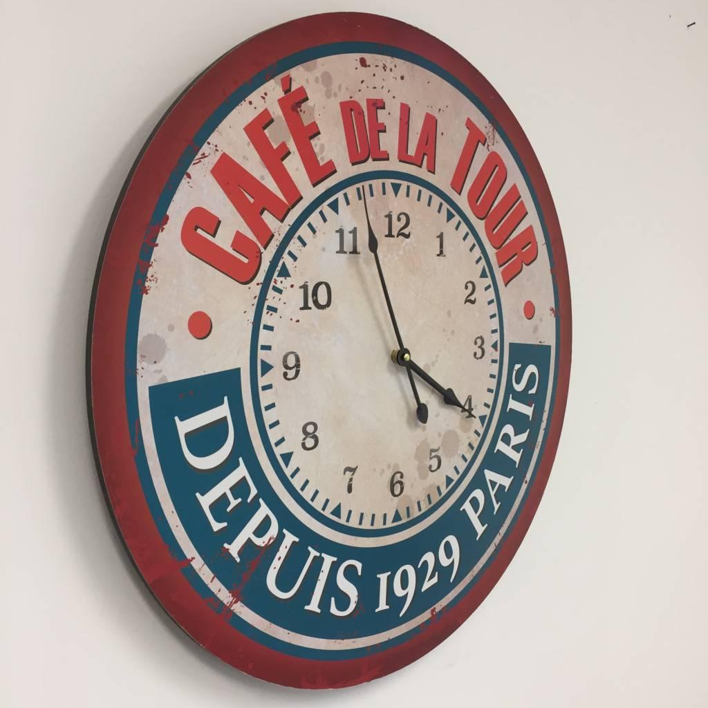 NiceTime Wandklok Cafe de la Tour