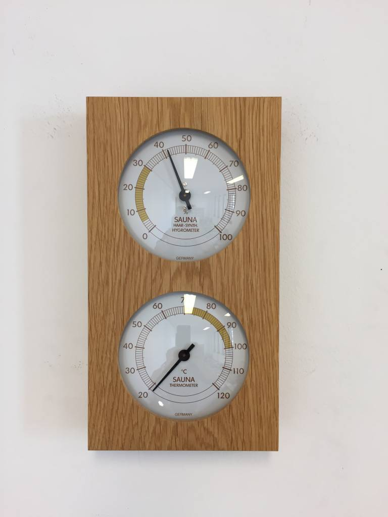 NiceTime Sauna Thermo- Hygrometer, 130 x 242mm