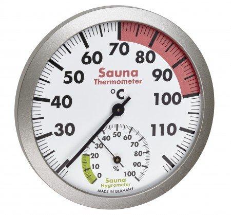 NiceTime Sauna Thermo- Hygrometer, Ø 120mm
