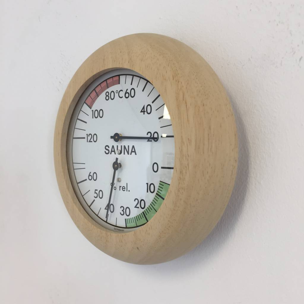 NiceTime Sauna Thermo-/Hygrometer, Ø 136mm