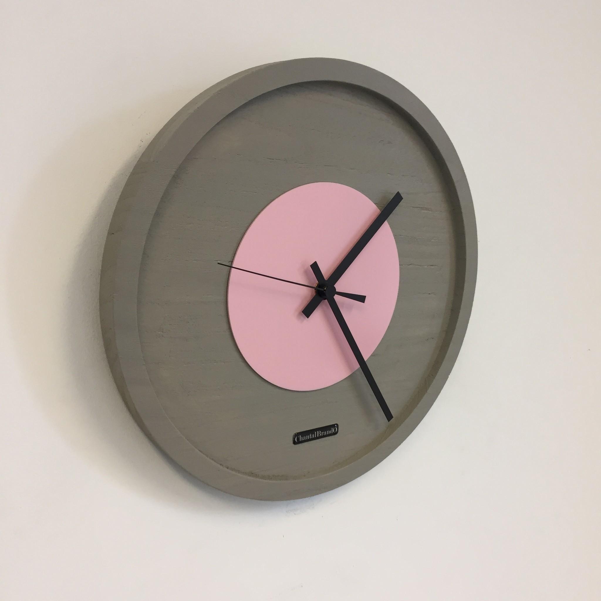 ChantalBrandO Wandklok Quinten PINK Modern Design