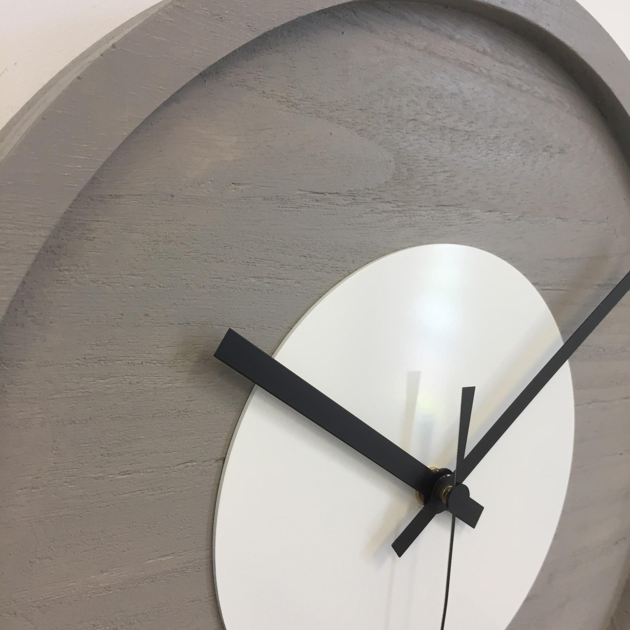 ChantalBrandO Wandklok Quinten White Modern Design