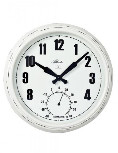 NiceTime Wandklok met thermometer modern design