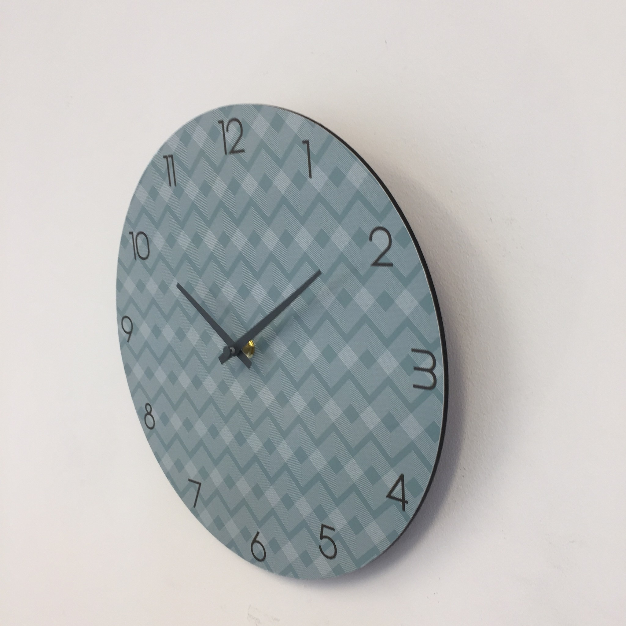 NiceTime Wandklok ETNIC BLUE MODERN DESIGN