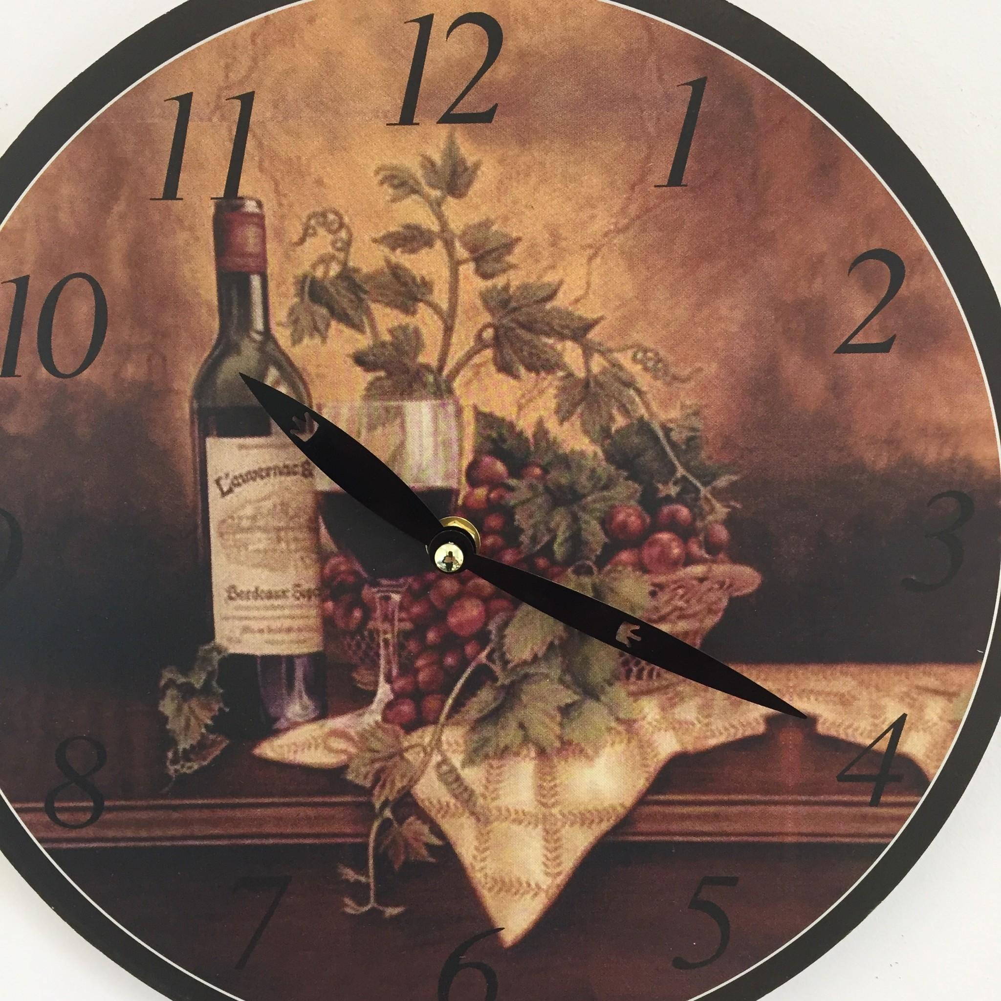 NiceTime Keukenklok Vin de Bordeaux RETRO VINTAGE