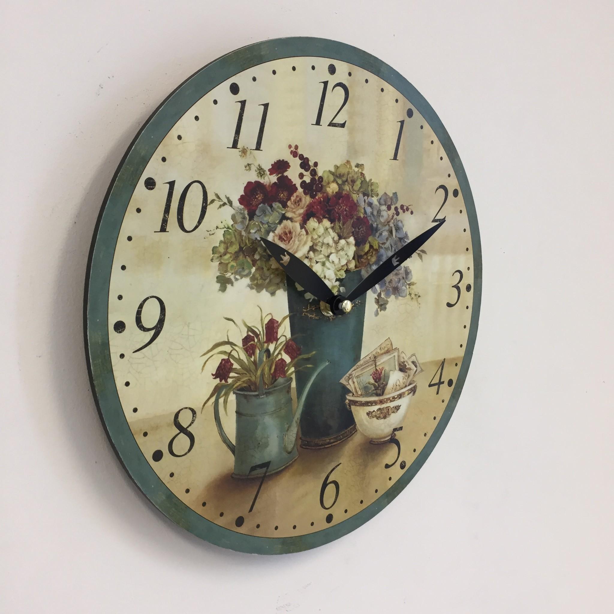 NiceTime Wandklok Les Fleurs Vintage