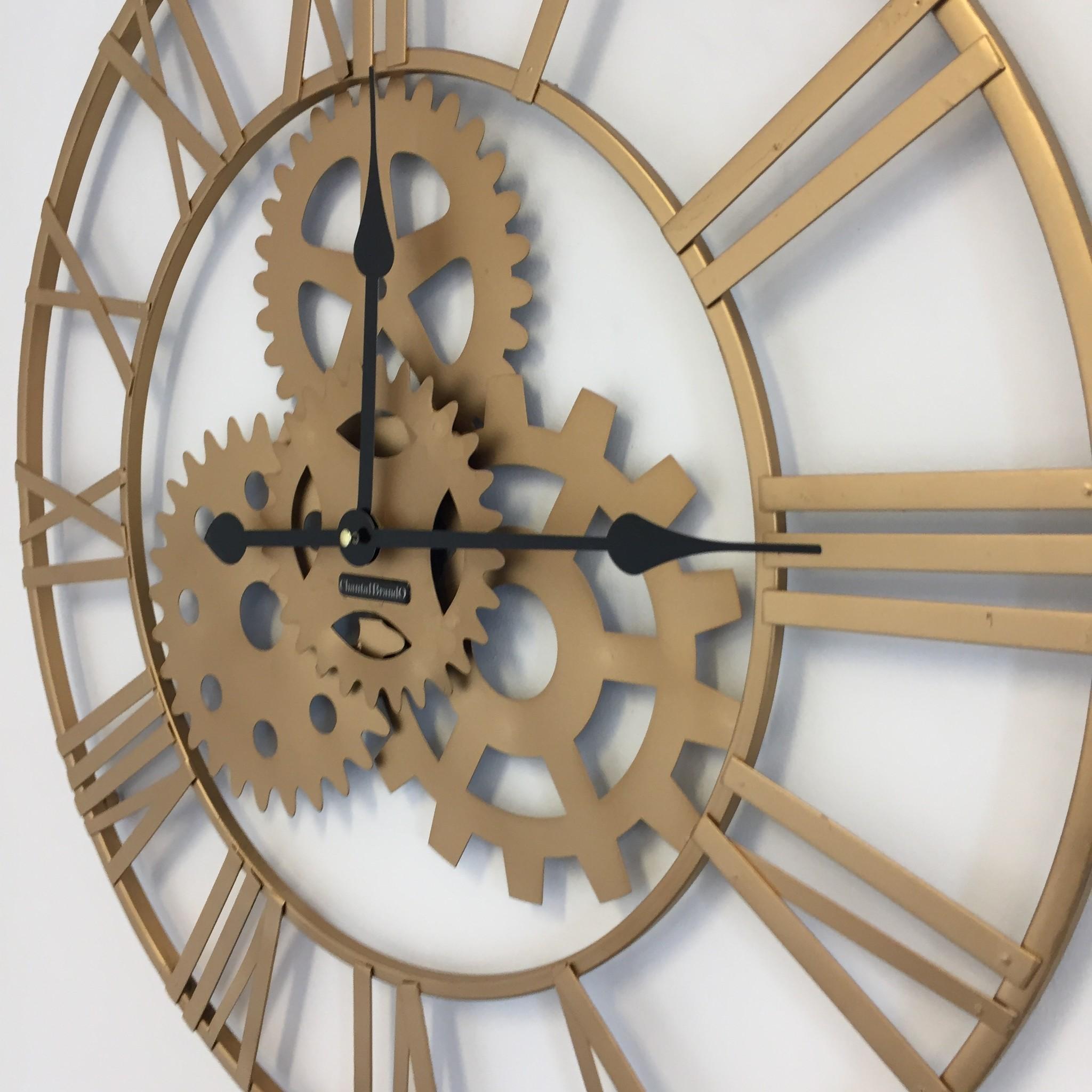ChantalBrandO Wandklok Golden Nugget Vintage Industrieel