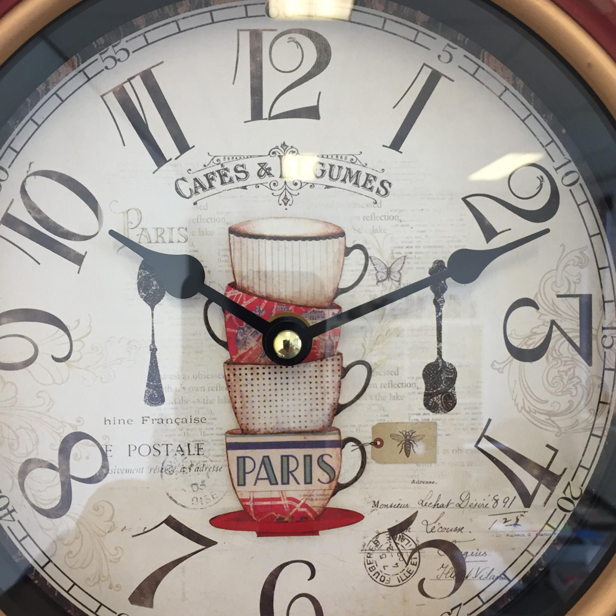 NiceTime Wandklok PARIS vintage retro