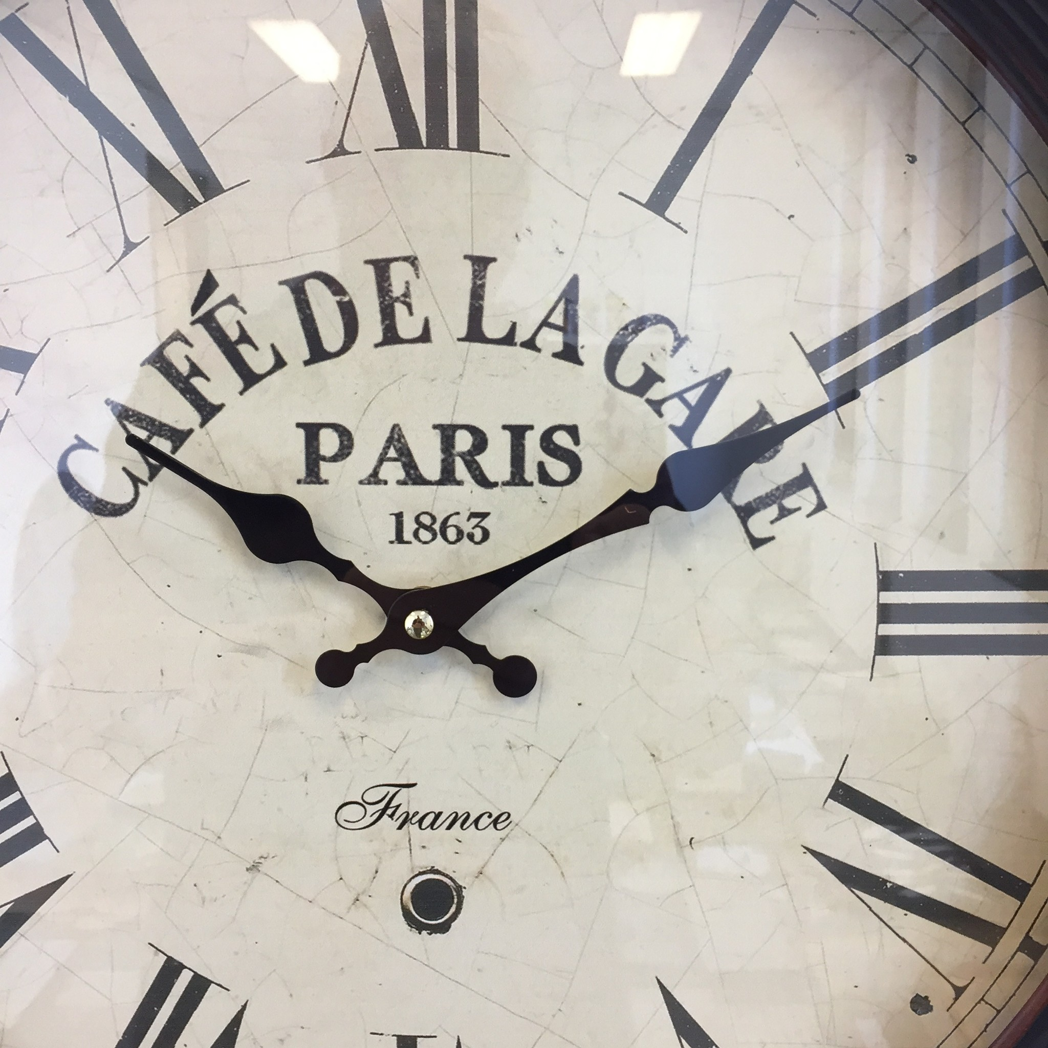 NiceTime Wandklok Cafe de la Gare industrieel vintage