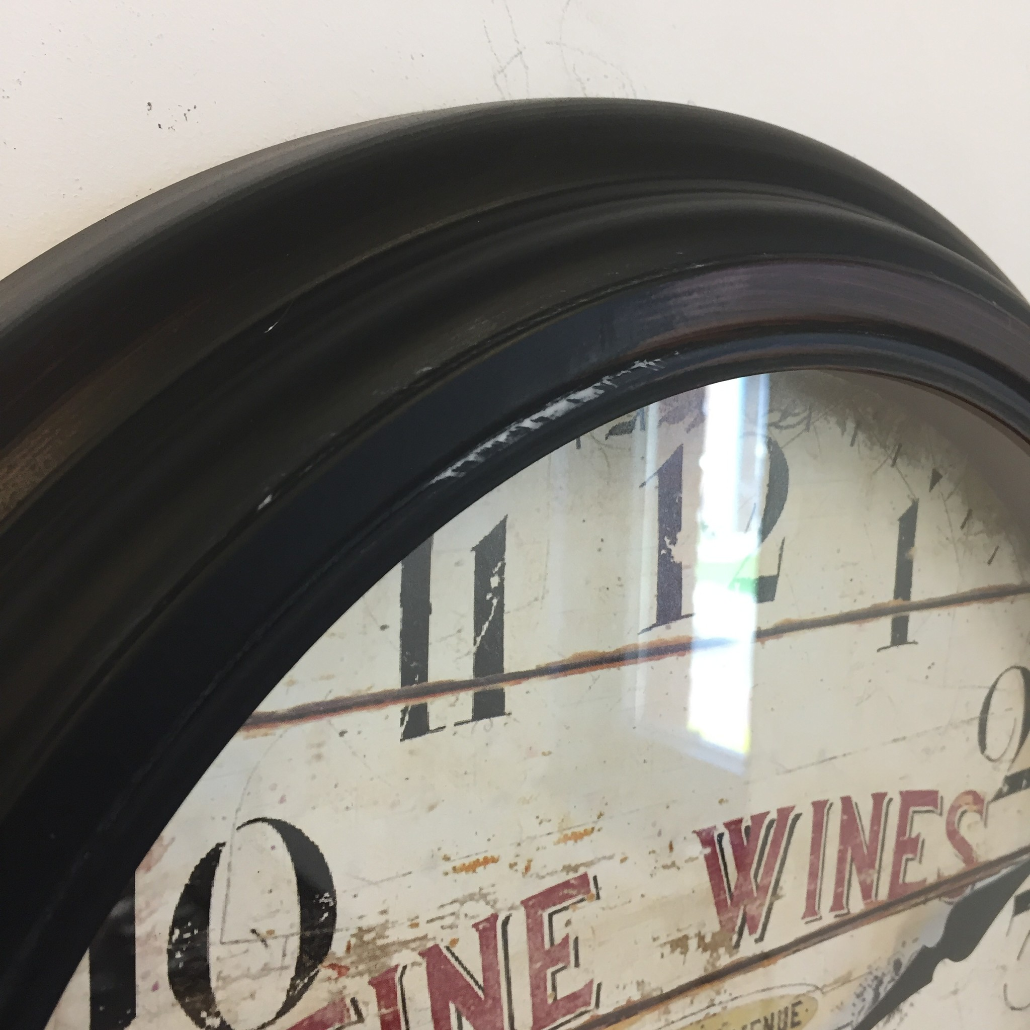 NiceTime Wandklok Fine Wines industrieel retro vintage