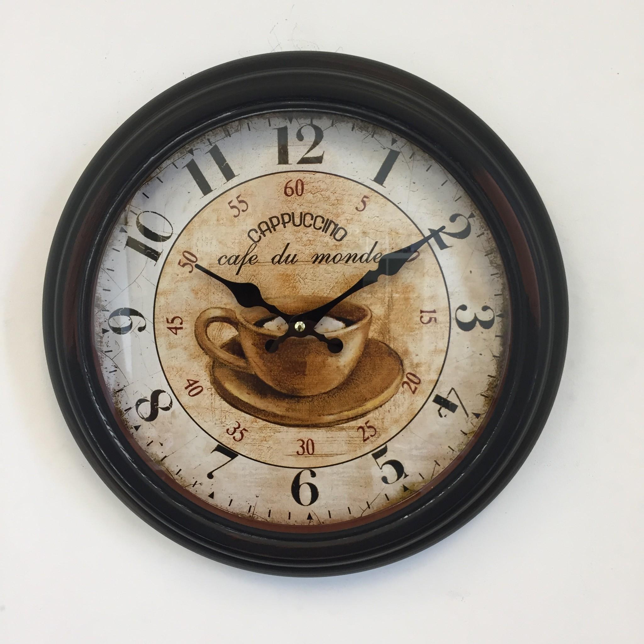 NiceTime Wandklok Cappuccino Vintage Retro Industrial