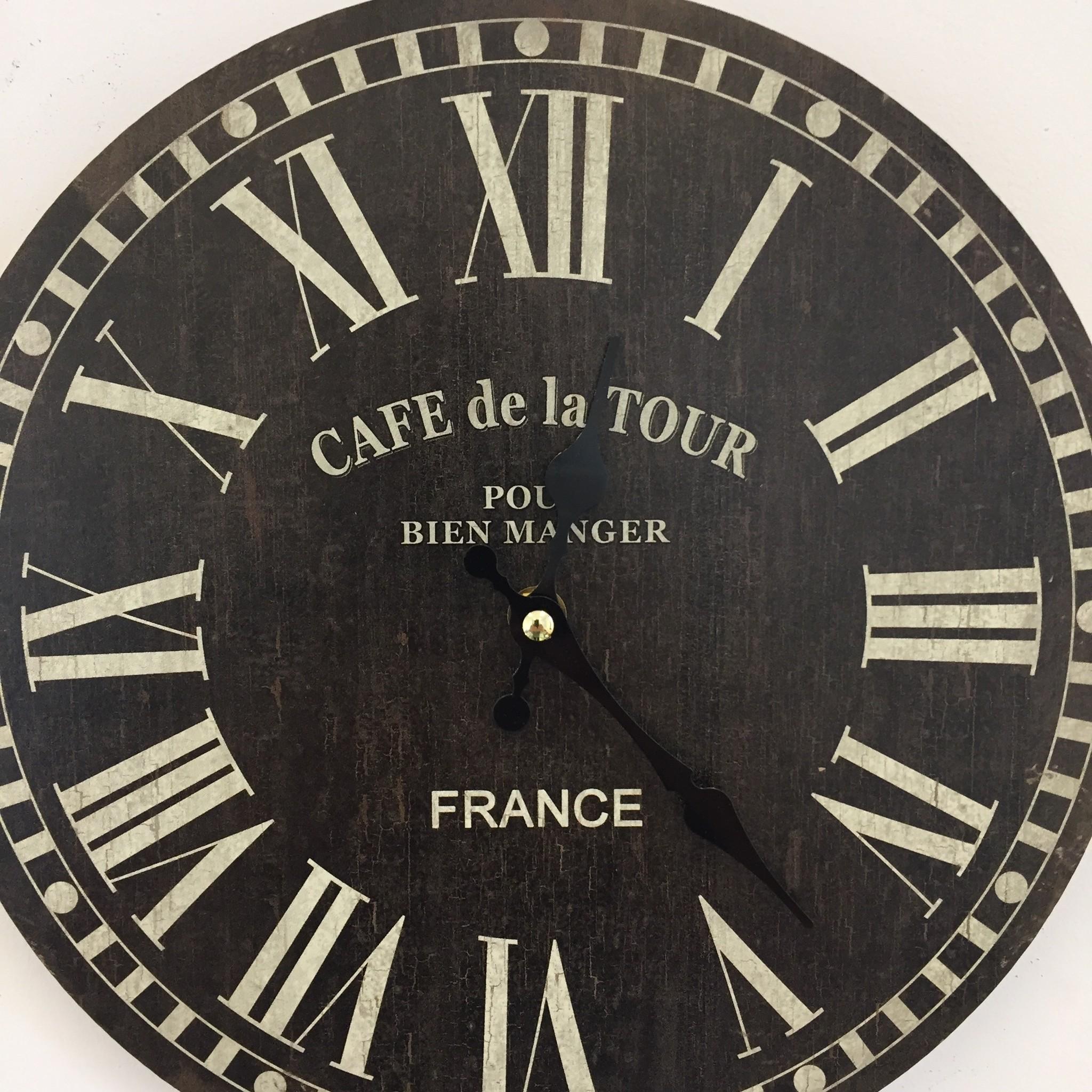 NiceTime Wandklok De La Tour Vintage Industrieel