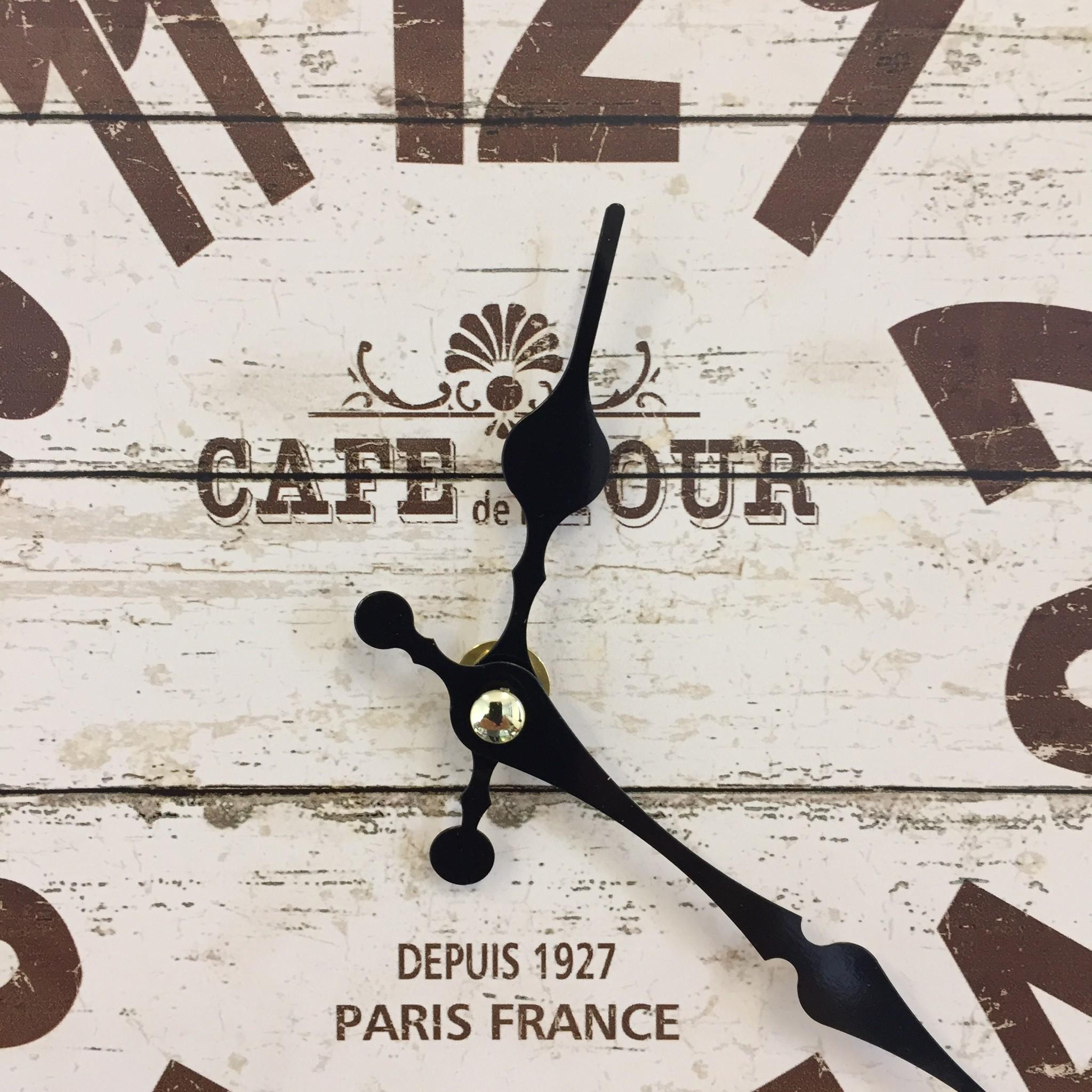NiceTime Wandklok Café de Tour Industrieel Vintage