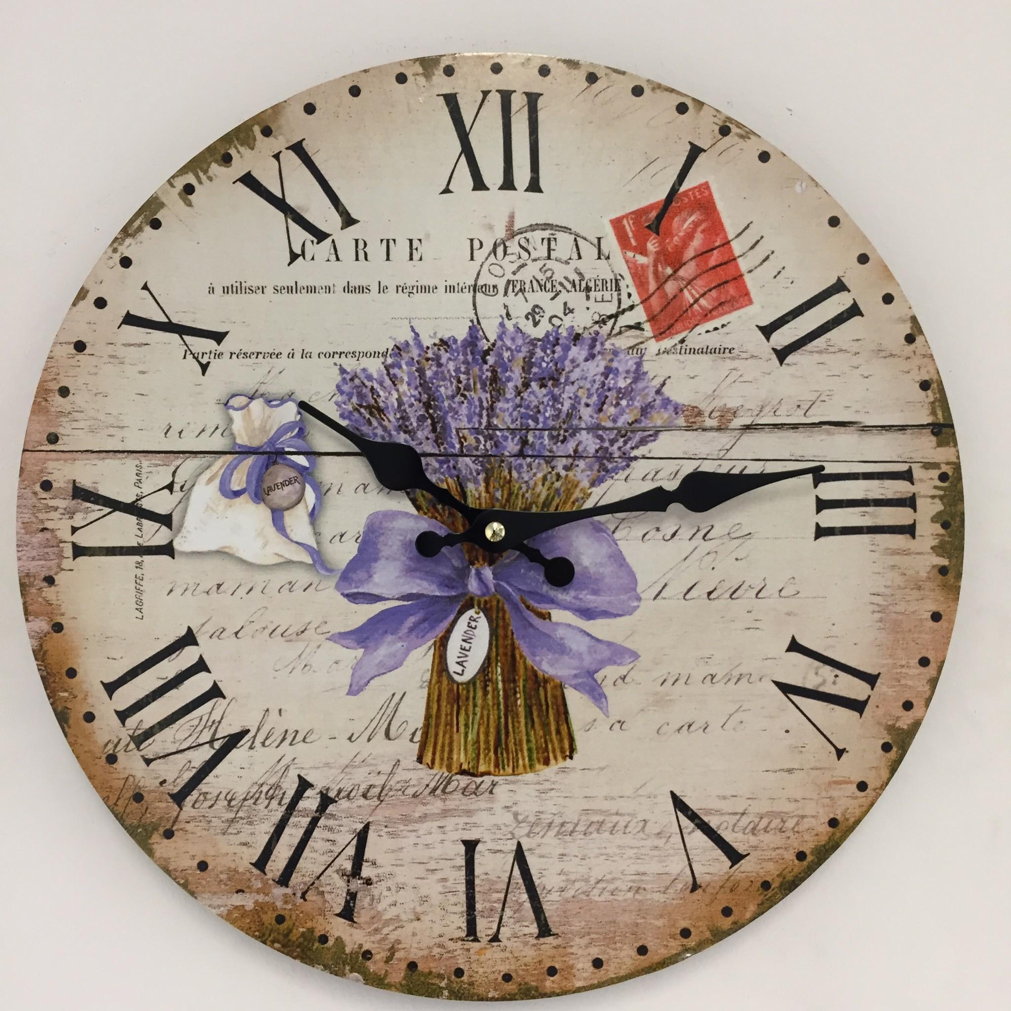 NiceTime Wandklok Lavender Landelijk design