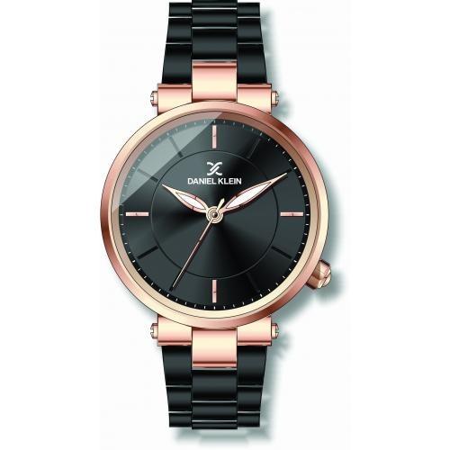 Daniel Klein Dames Dames horloge BLACK & GOLD DESIGN