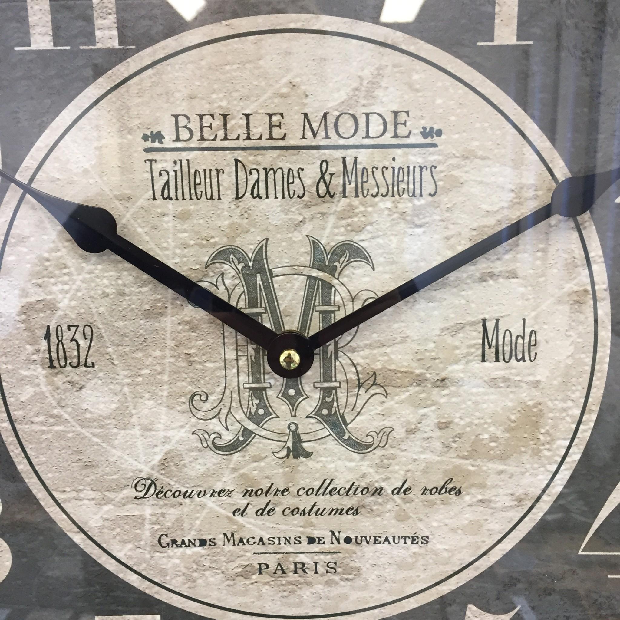 NiceTime Wandklok Belle Mode Industrieel Vintage