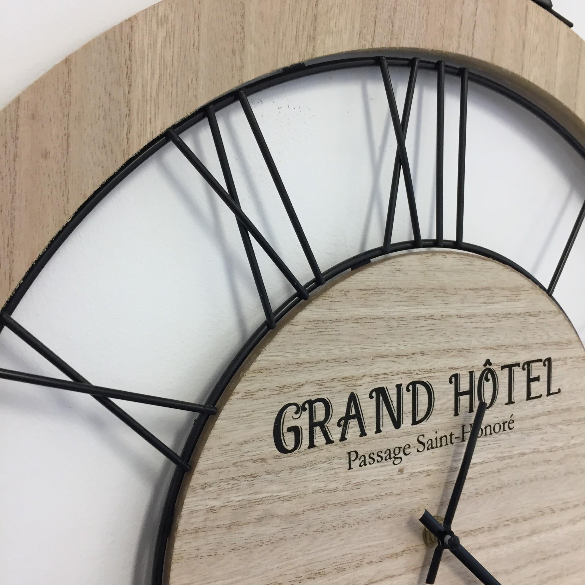 NiceTime Wandklok Grand Hotel Industrieel Vintage Design