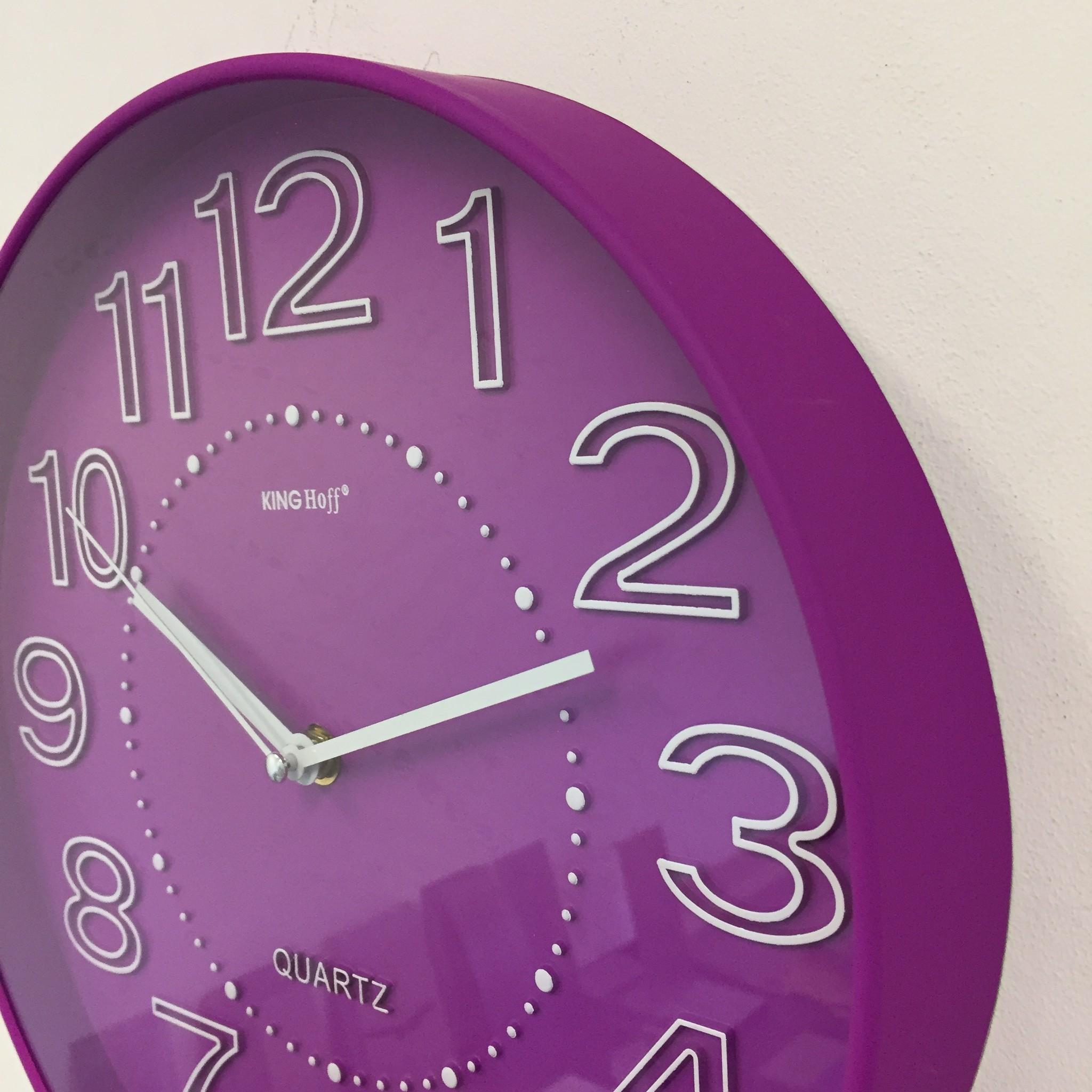 NiceTime Wandklok Lumina Violet Modern Design