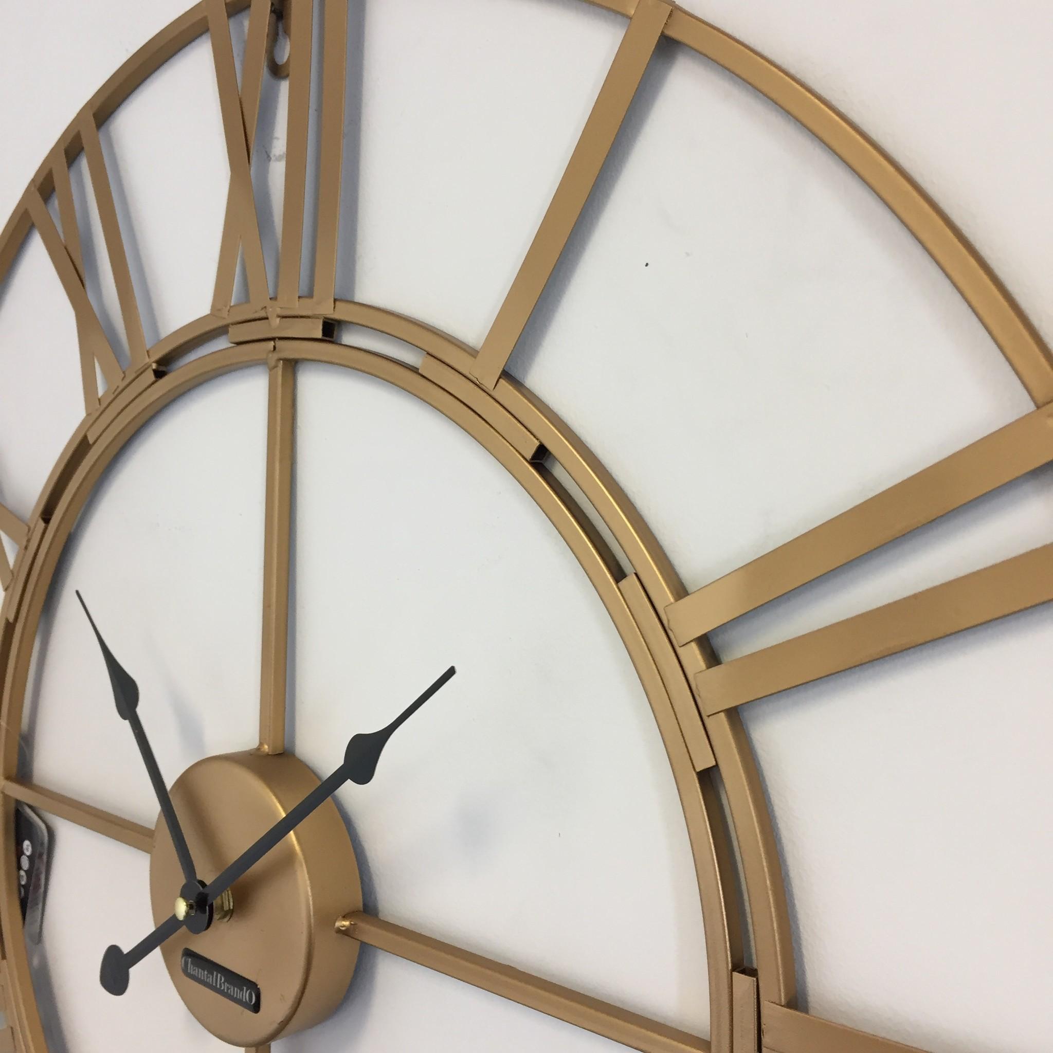 ChantalBrandO Wandklok Golden Wheel 60 Industrieel Retro Design