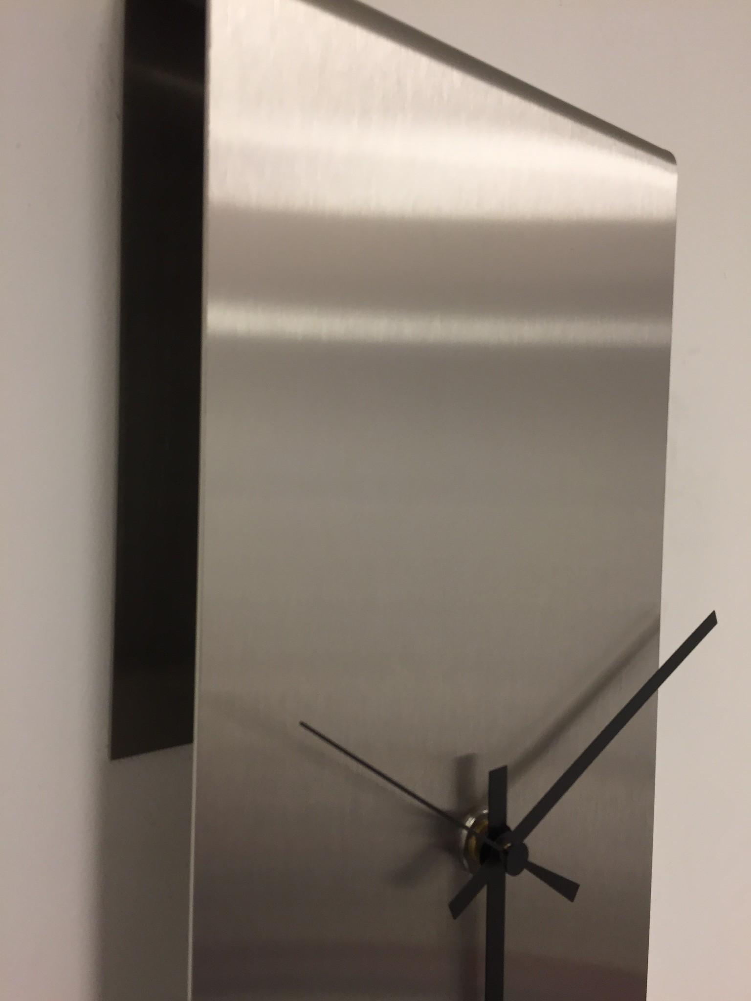 Wandklok NEW YORK  SKYSCRAPER Silver