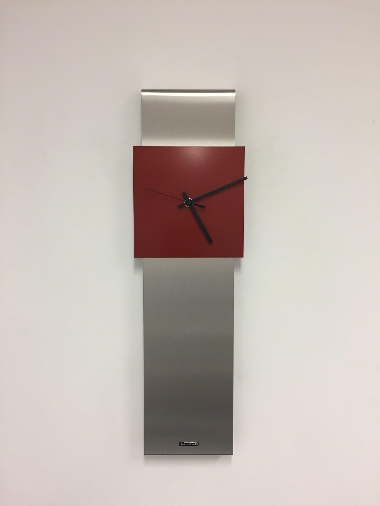 ChantalBrandO Wandklok NEW YORK  SKYSCRAPER RED
