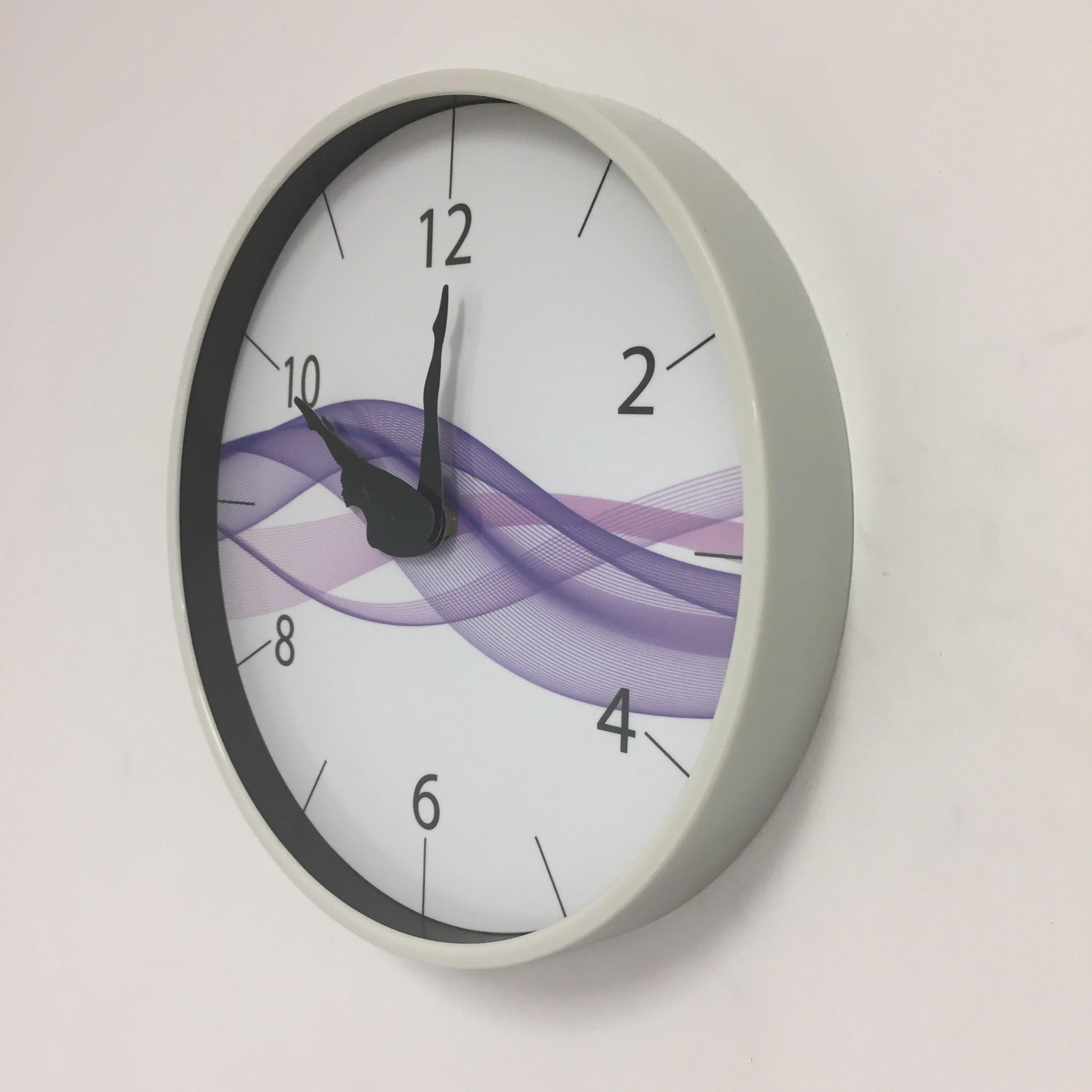 NiceTime Wandklok DANCER Purple Wave Modern Design