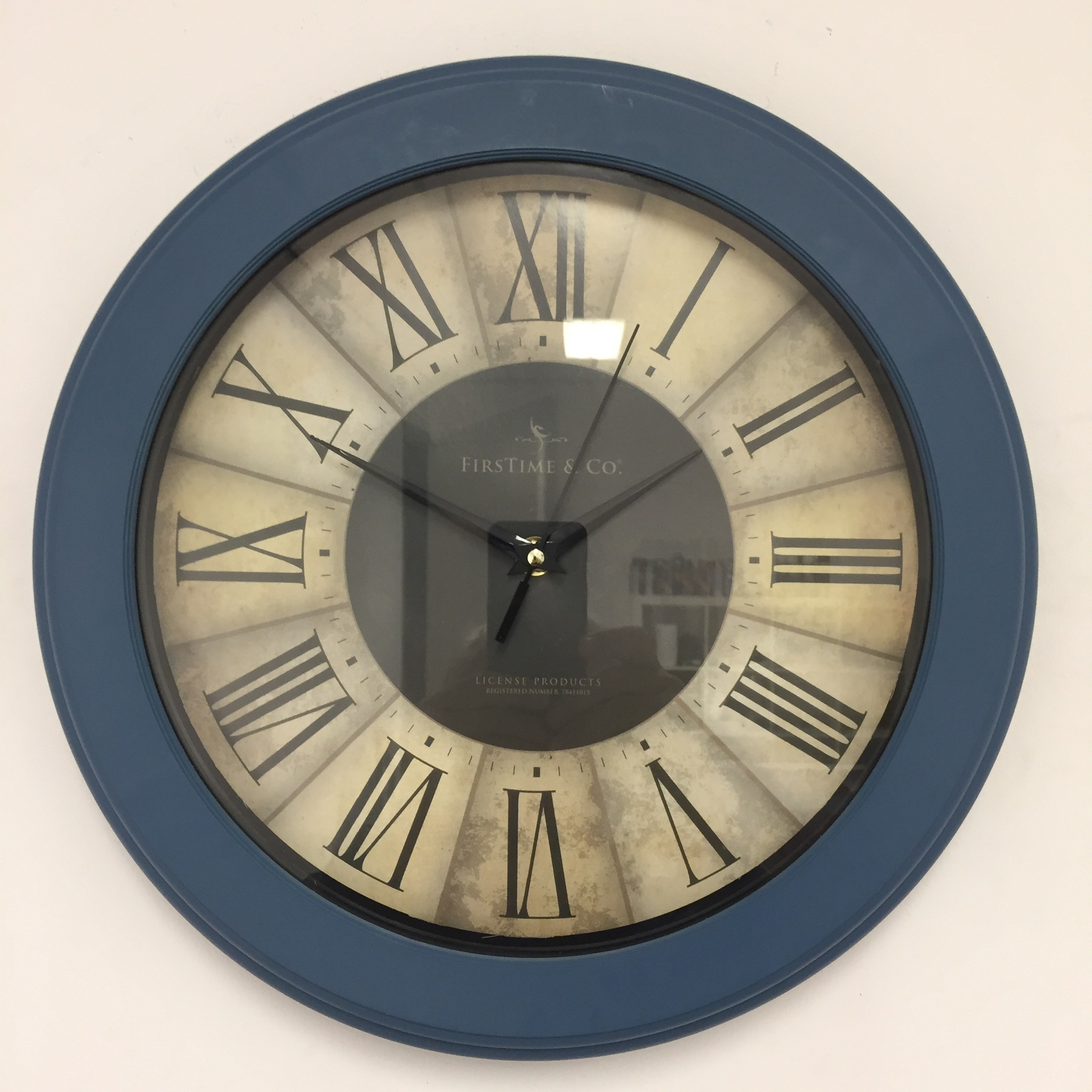 NiceTime Wandklok CASINO BLUE