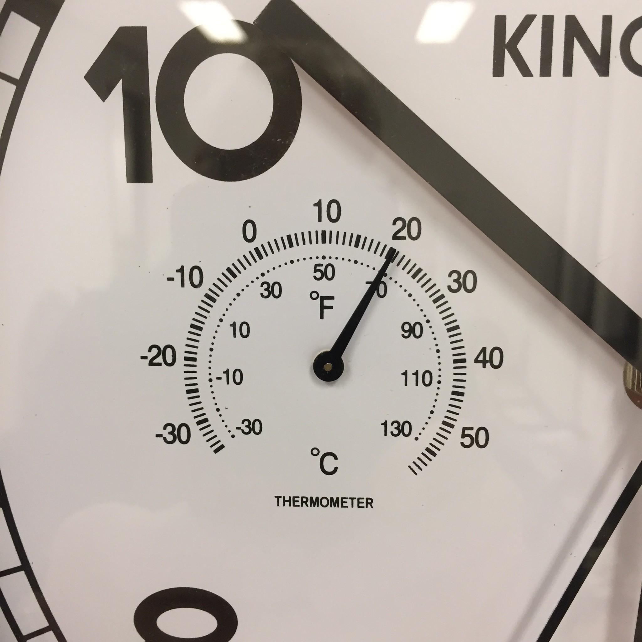 NiceTime Wandklok met Temperatuur en vochtmeter modern design