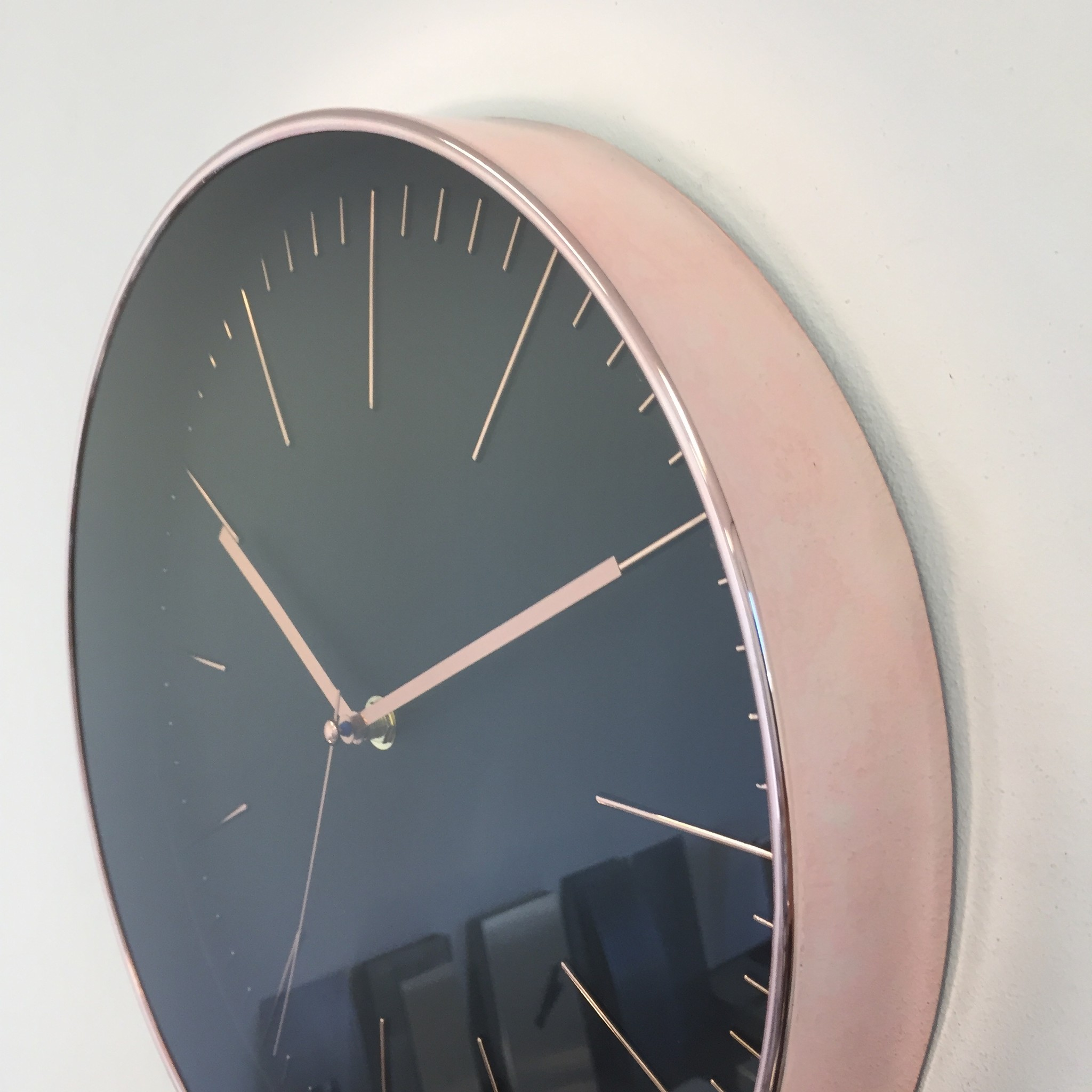 Saramax Wandklok COPPER ROSE Modern Design