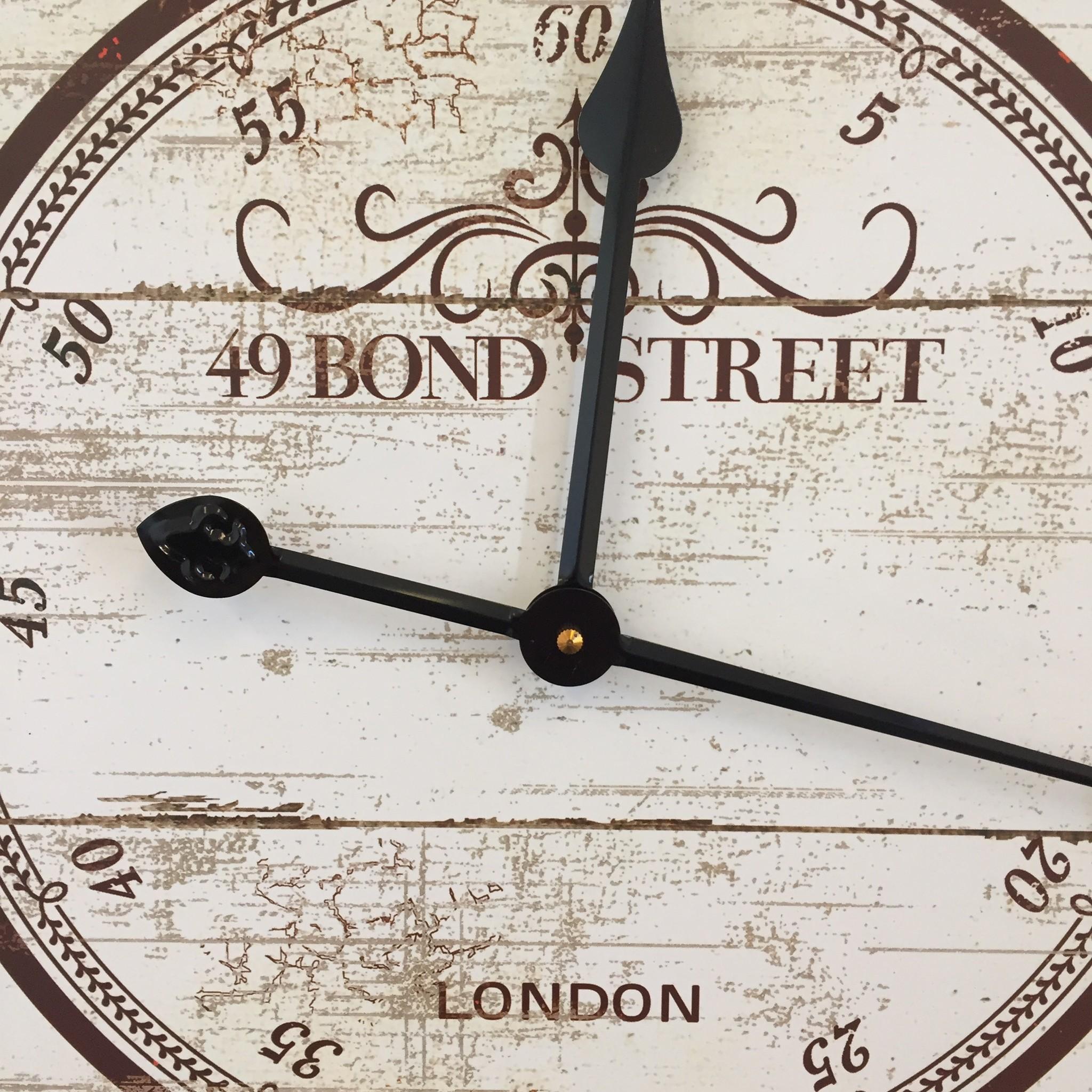 NiceTime Wandklok Bondstreet 49 Industrieel Design