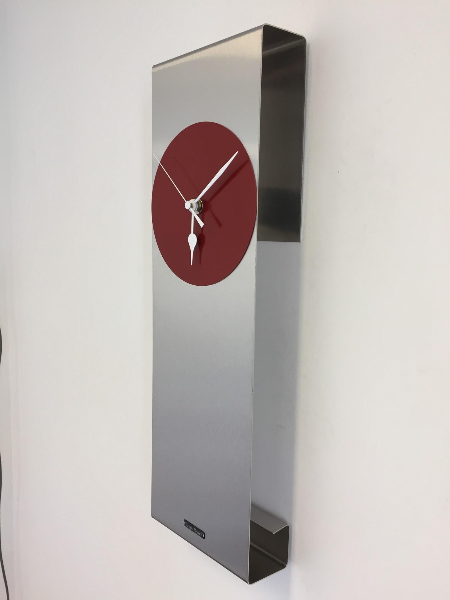 ChantalBrandO Wandklok Manhattan RED Modern Dutch Design