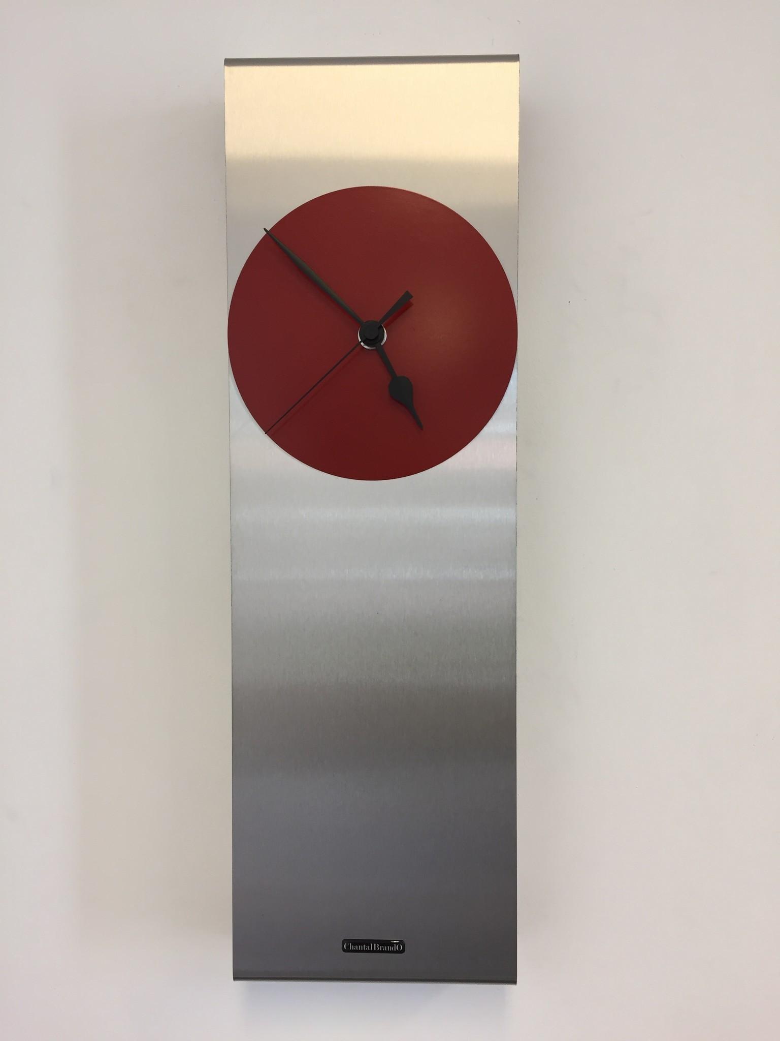 ChantalBrandO Wandklok Manhattan RED & BLACK Modern Dutch Design