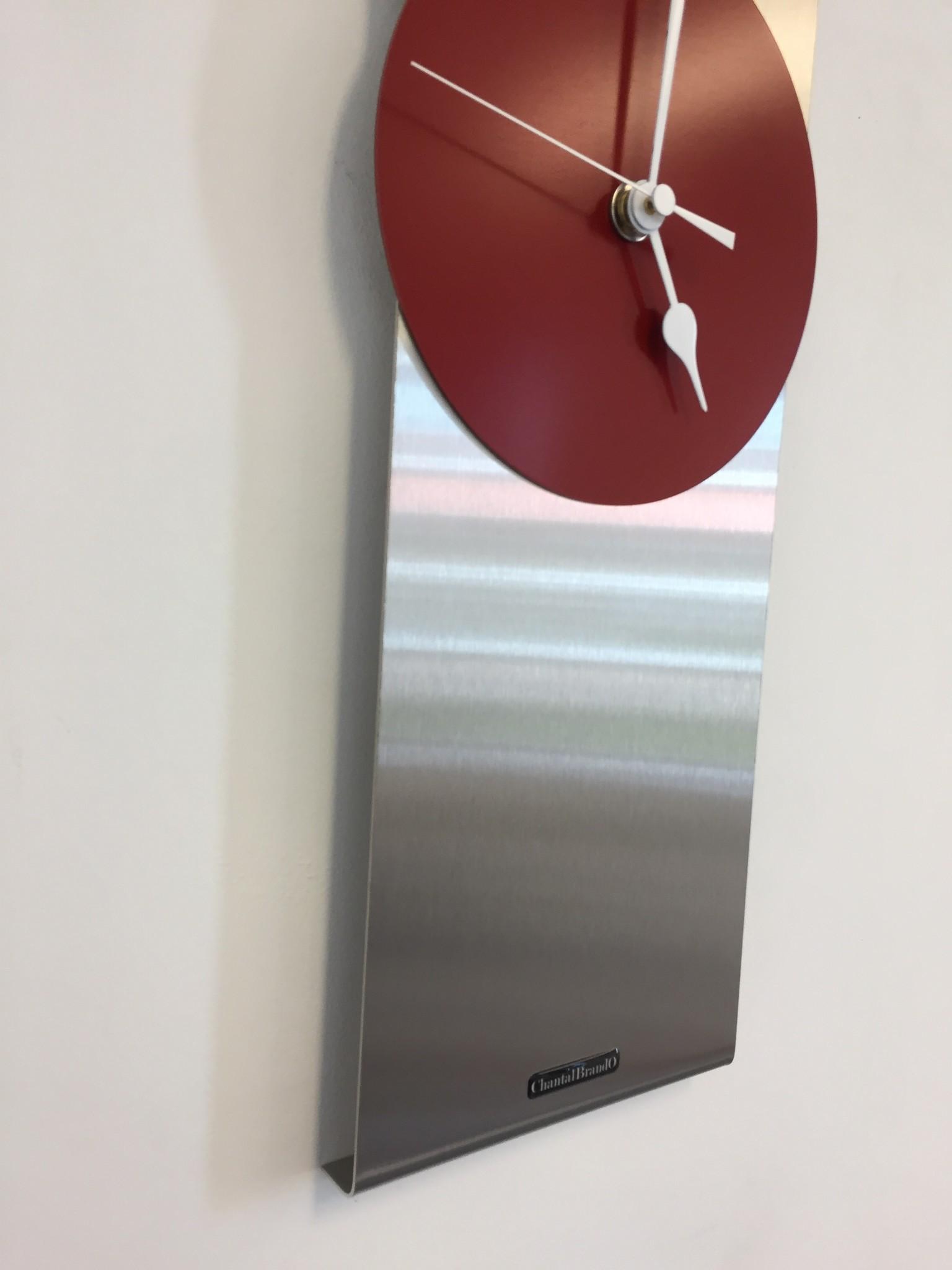 Wandklok ORION RED Modern Dutch Design