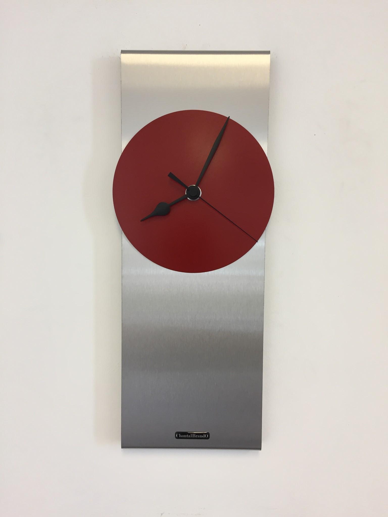 ChantalBrandO Wandklok ORION RED & BLACK Modern Dutch Design
