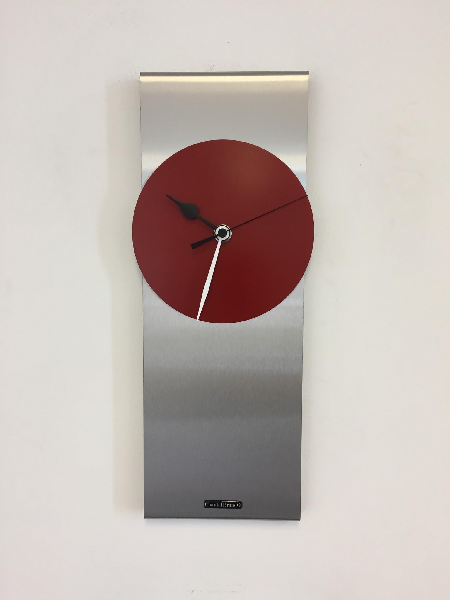 ChantalBrandO Wandklok ORION RED B&W Modern Dutch Design