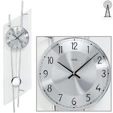 AMS AMS SILVER wandklok modern design