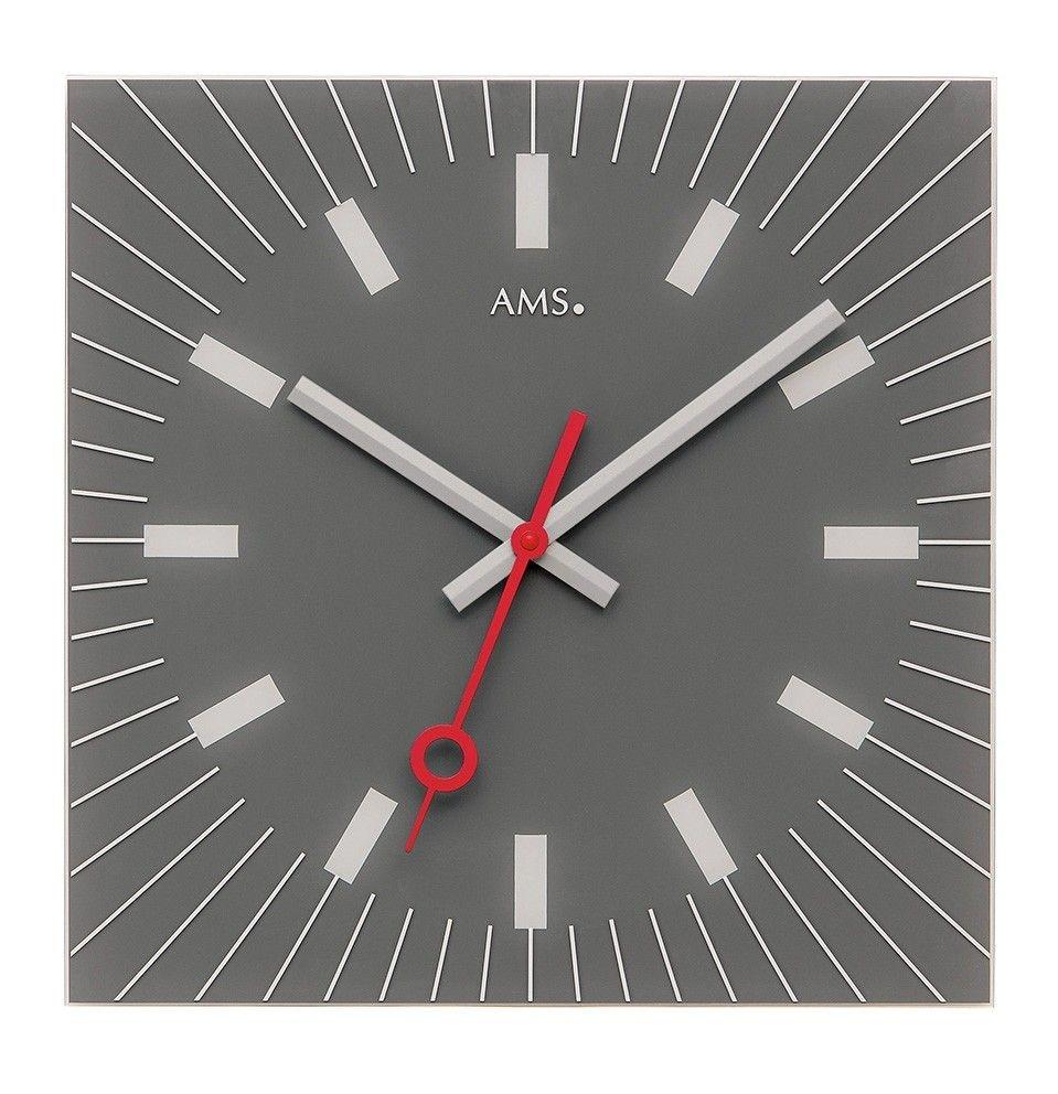 AMS AMS wandklok CARRE GRIS modern design