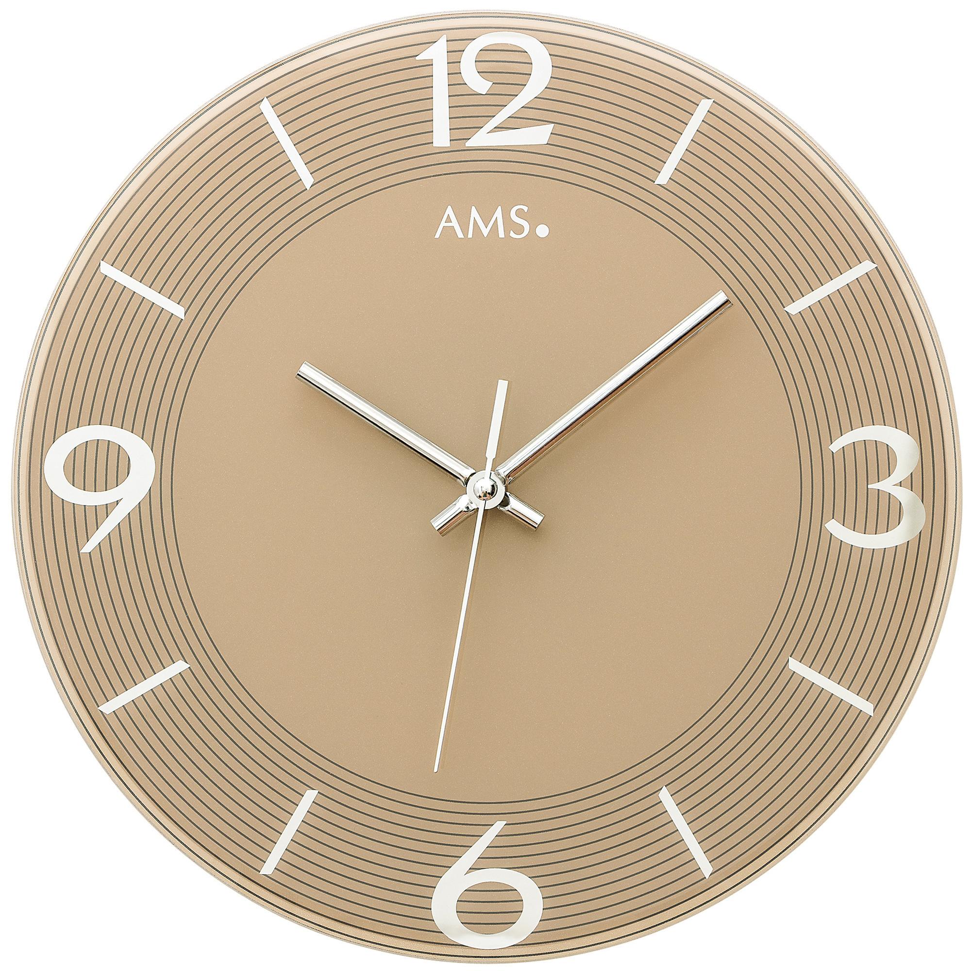 AMS Wandklok SOLEIL GOLD modern design