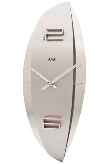 AMS AMS Wandklok Silver Star Modern Design